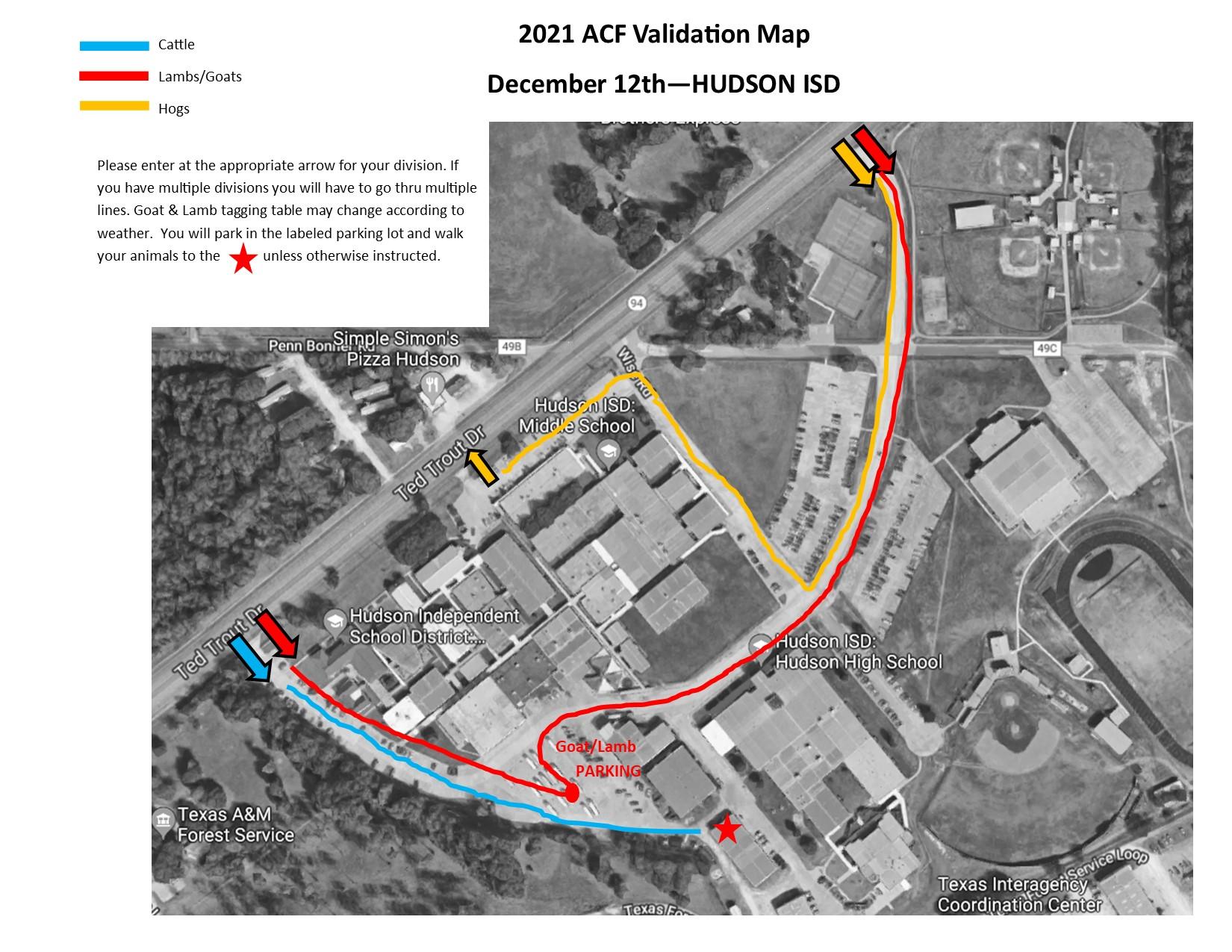 2021 Validation Map for Hudson